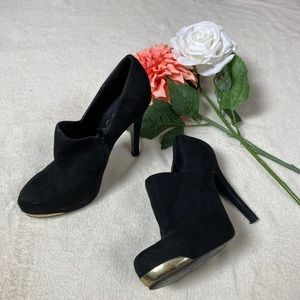 Aldo Black with Gold Booties